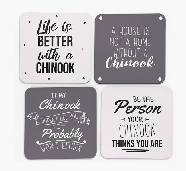 Chinook Quote Coasters - Set of 4
