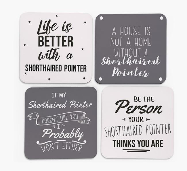 German Shorthaired Pointer Quote Coasters - Set of 4