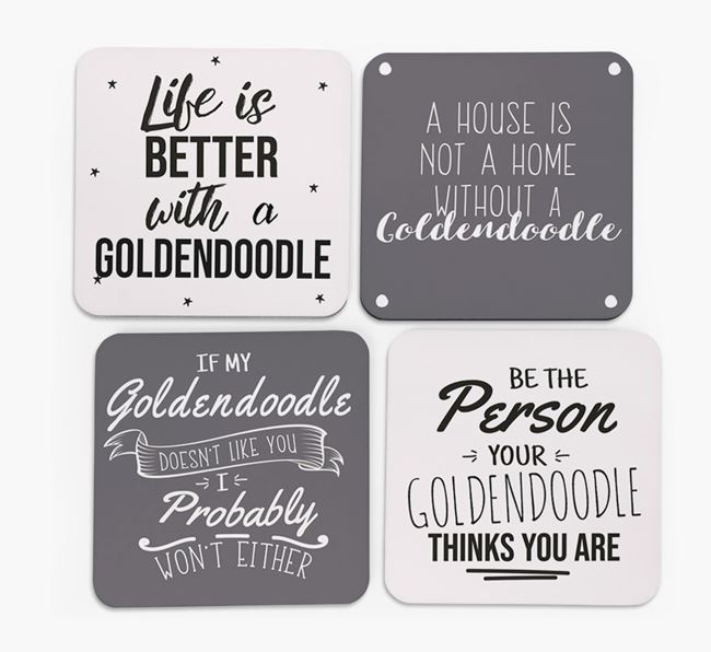 Goldendoodle Quote Coasters - Set of 4