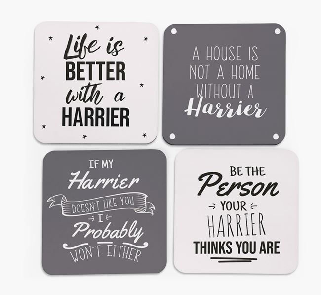 Harrier Quote Coasters - Set of 4