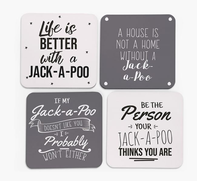 Jack-A-Poo Quote Coasters - Set of 4