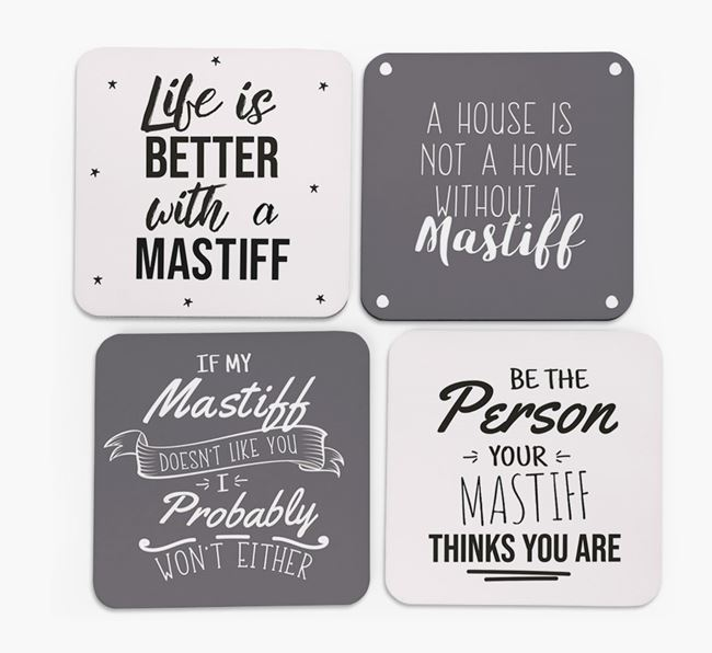 Dog Quote Coasters - Set of 4