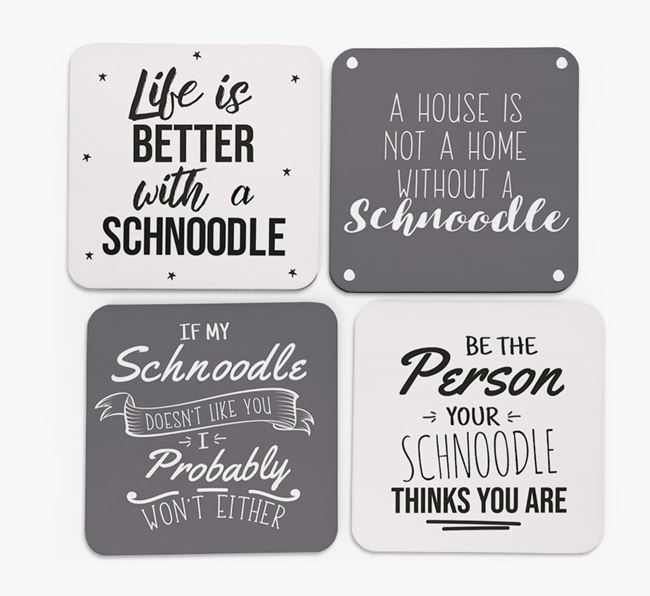 Schnoodle Quote Coasters - Set of 4