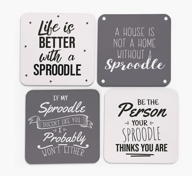 Sproodle Quote Coasters - Set of 4