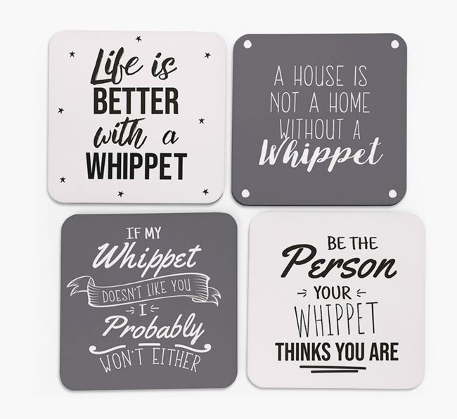 Whippet Quote Coasters - Set of 4