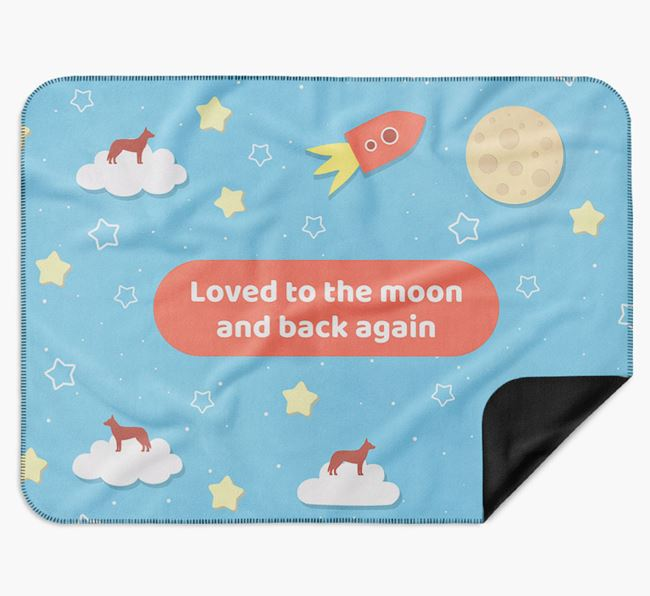 'Moon and Back' Blanket with Australian Working Kelpie Silhouettes