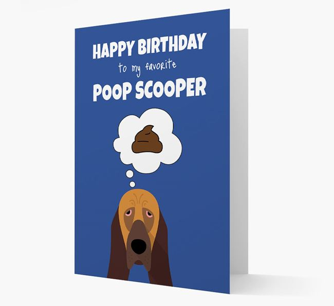 Card 'Poop Scooper' with Bloodhound Icon