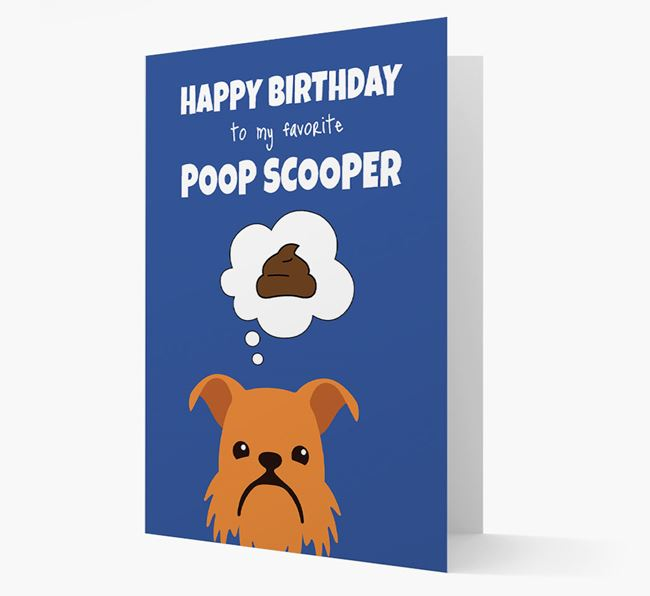 Card 'Poop Scooper' with Brussels Griffon Icon