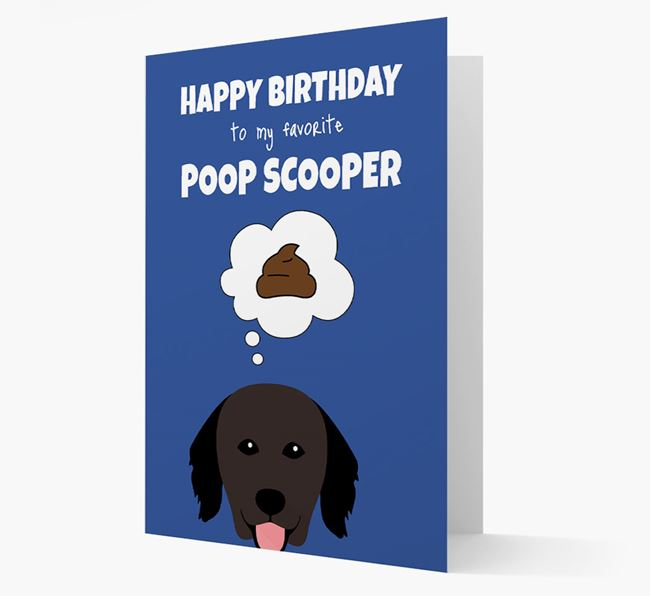 Card 'Poop Scooper' with Hovawart Icon