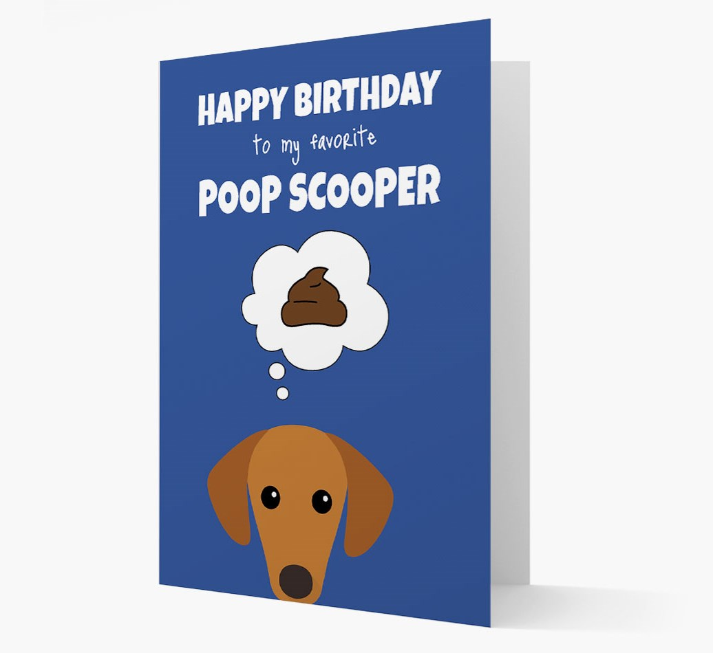 Birthday Card 'To My Favorite Poop Scooper' with Sloughi Icon