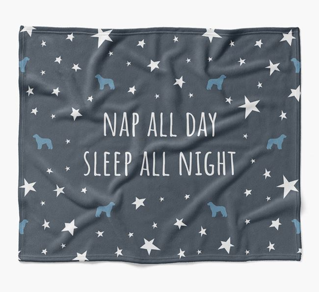 'Nap All Day, Sleep All Night' Blanket with Aussiedoodle Silhouettes