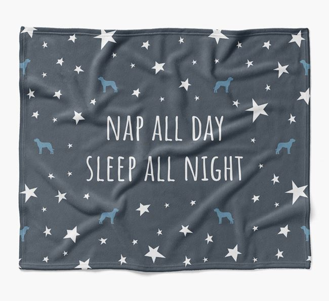 'Nap All Day, Sleep All Night' Blanket with Beauceron Silhouettes