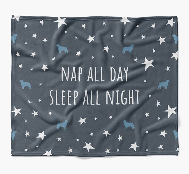 'Nap All Day, Sleep All Night' Blanket with Hungarian Kuvasz Silhouettes