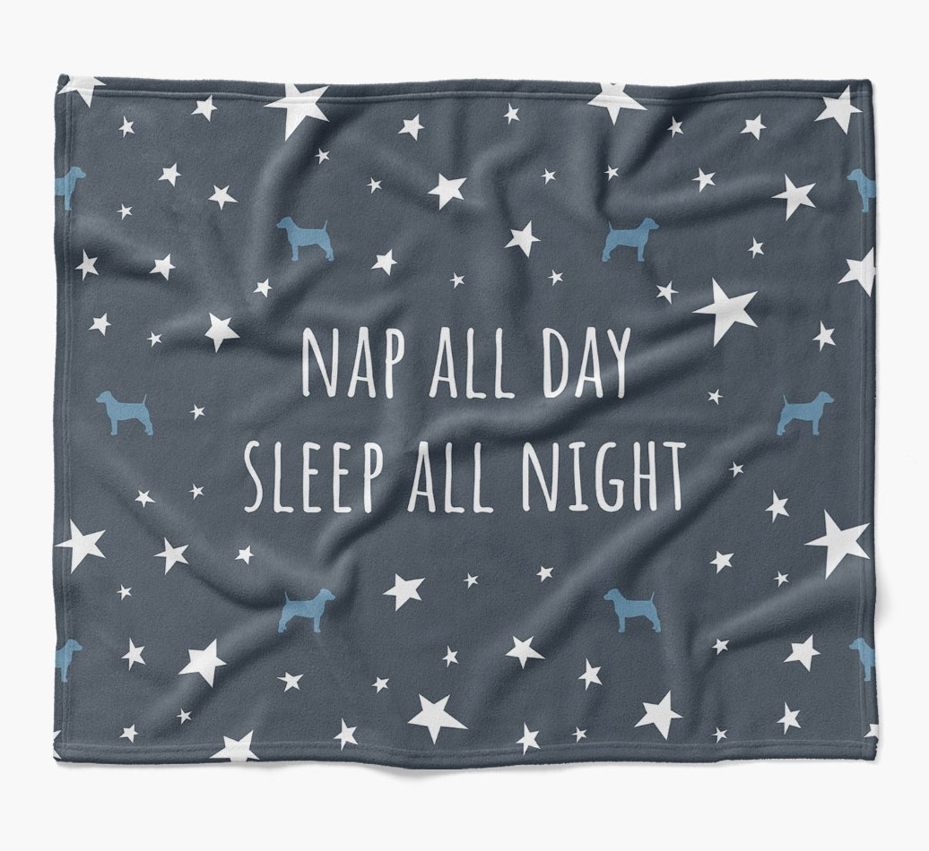 'Nap All Day, Sleep All Night' Blanket with Dog Silhouettes in {colour} flat