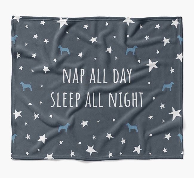 'Nap All Day, Sleep All Night' Blanket with Dog Silhouettes
