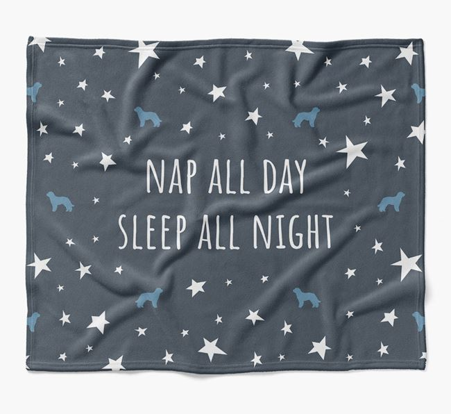 'Nap All Day, Sleep All Night' Blanket with Labradoodle Silhouettes