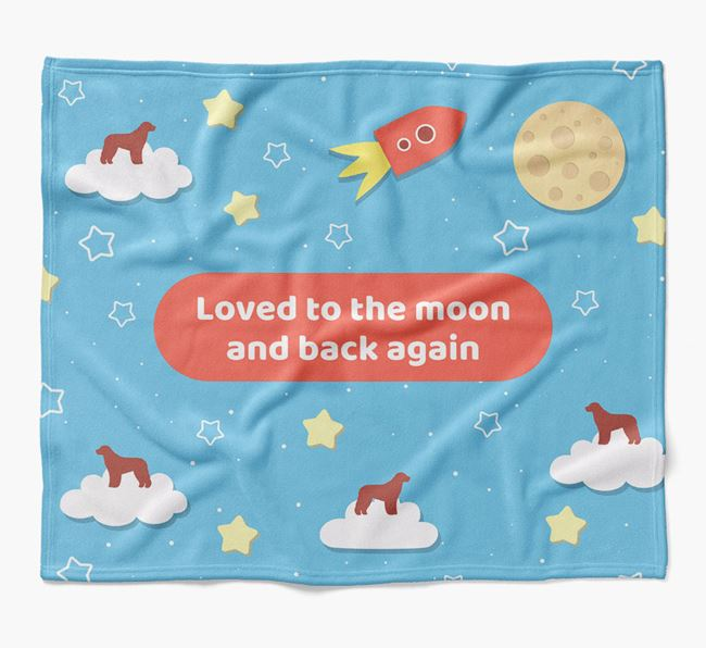 'Moon and Back' Blanket with Aussiedoodle Silhouettes