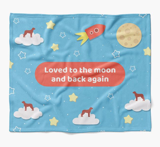 'Moon and Back' Blanket with Beauceron Silhouettes