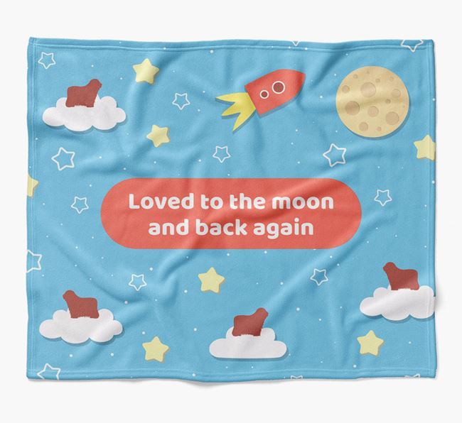 'Moon and Back' Blanket with Bergamasco Silhouettes