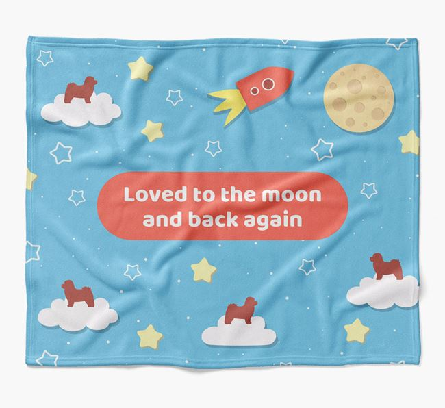 'Moon and Back' Blanket with Bolognese Silhouettes