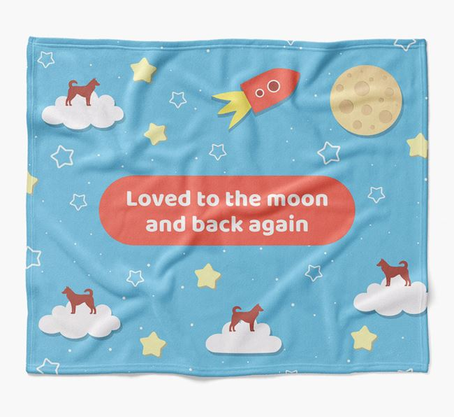'Moon and Back' Blanket with Canaan Dog Silhouettes