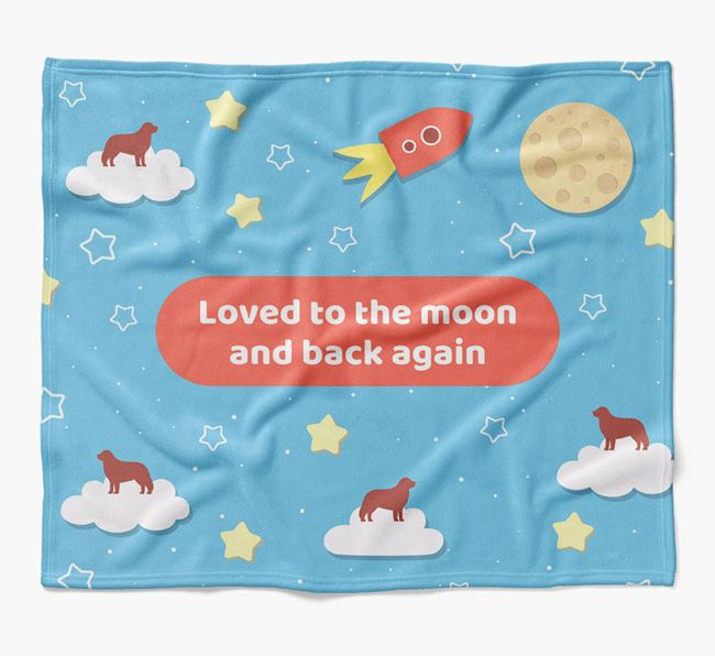 'Moon and Back' Blanket with Hungarian Kuvasz Silhouettes