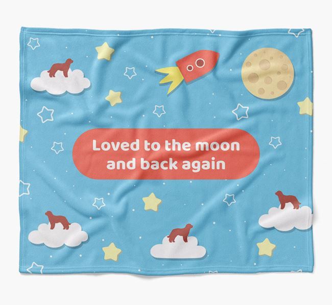 'Moon and Back' Blanket with Labradoodle Silhouettes