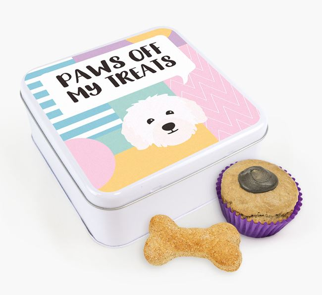 'Paws Off' Square Tin for Bolognese's Treats