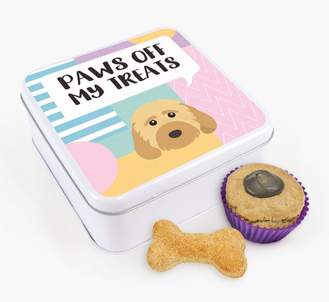 'Paws Off' Square Tin for Dog's Treats