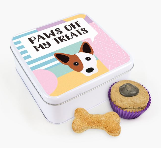 'Paws Off' Square Tin for Cojack's Treats