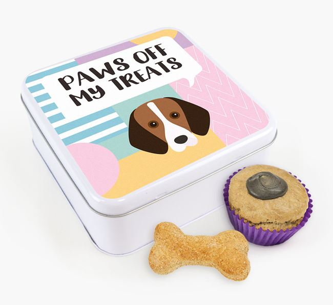 'Paws Off' Square Tin for Foxhound's Treats
