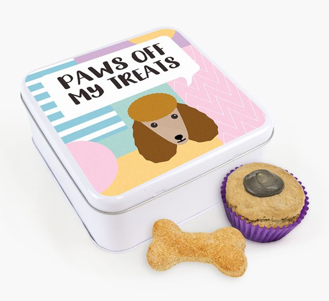 'Paws Off' Square Tin for Poodle's Treats