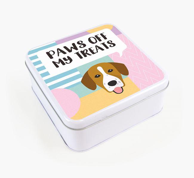 'Paws Off' Square Tin for Springador's Treats