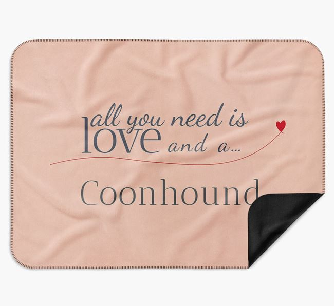 'All You Need Is Love' Black and Tan Coonhound Blanket