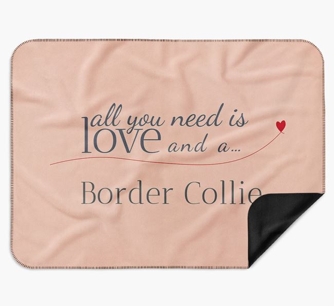 'All You Need Is Love' Border Collie Blanket