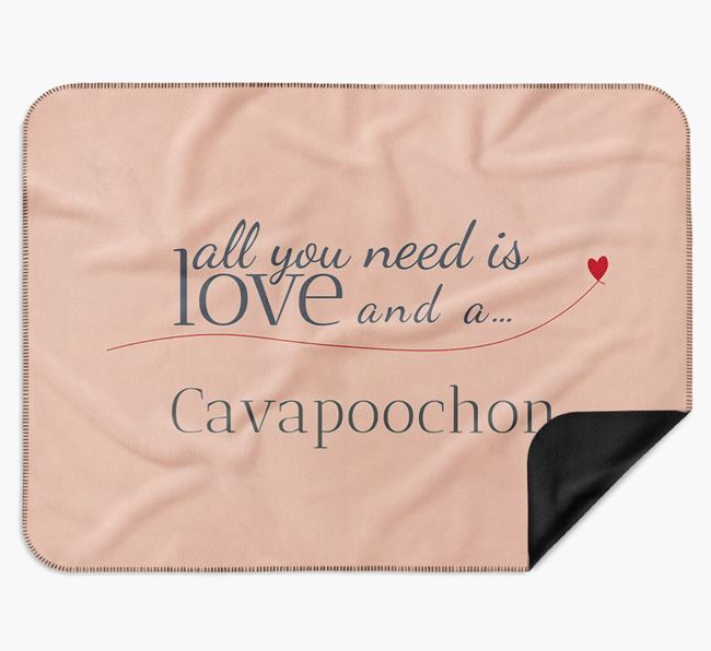 'All You Need Is Love' Cavapoochon Blanket