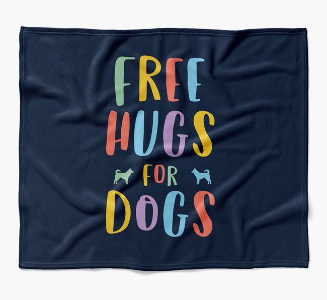 'Free Hugs' Blanket with Canaan Dog Silhouettes