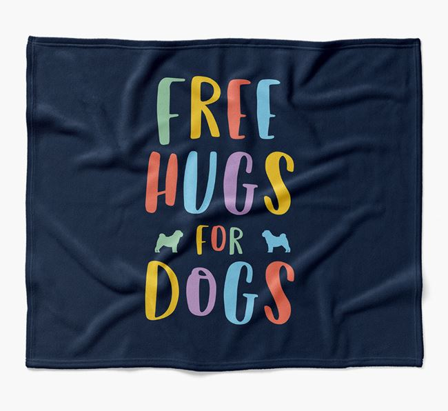 'Free Hugs' Blanket with Dog Silhouettes