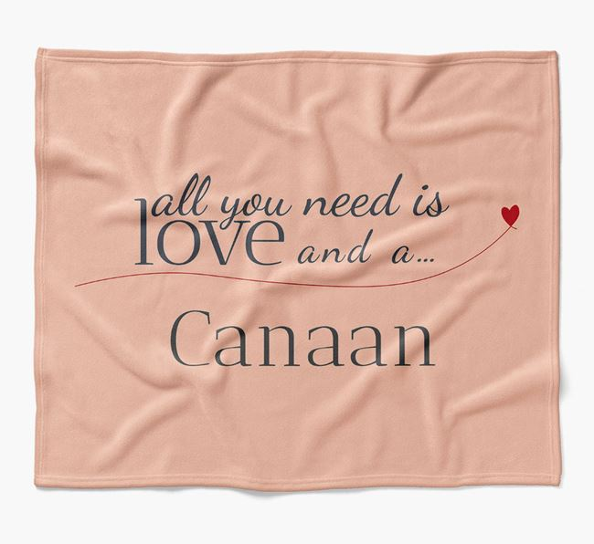 'All You Need Is Love' Canaan Dog Blanket