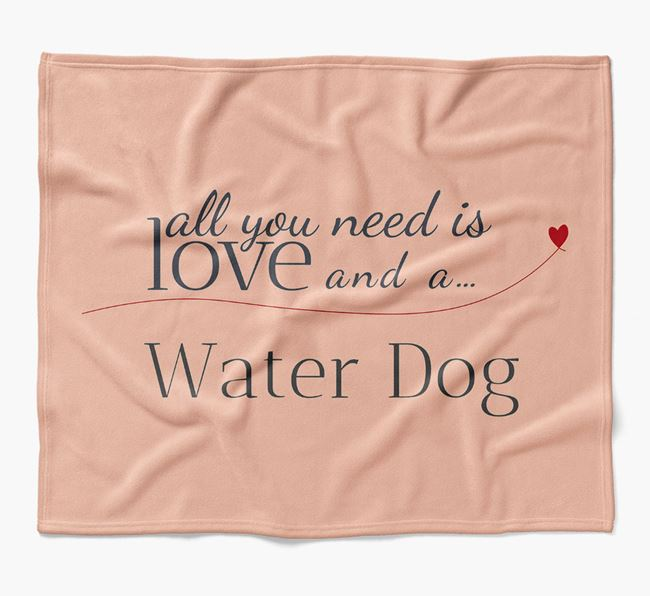 'All You Need Is Love' Dog Blanket