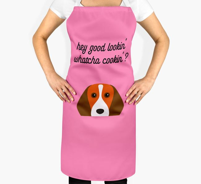 'Whatcha Cooking...?' Adult Apron with Beagle Icon