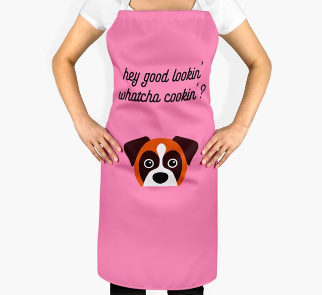 'Whatcha Cooking...?' Adult Apron with Dog Icon