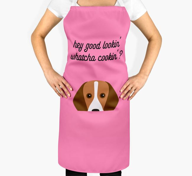 'Whatcha Cooking...?' Adult Apron with Foxhound Icon