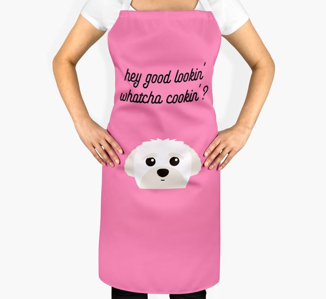 'Whatcha Cooking...?' Adult Apron with Peek-a-poo Icon