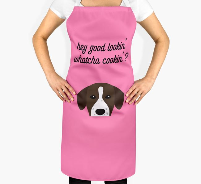 'Whatcha Cooking...?' Adult Apron with Springador Icon
