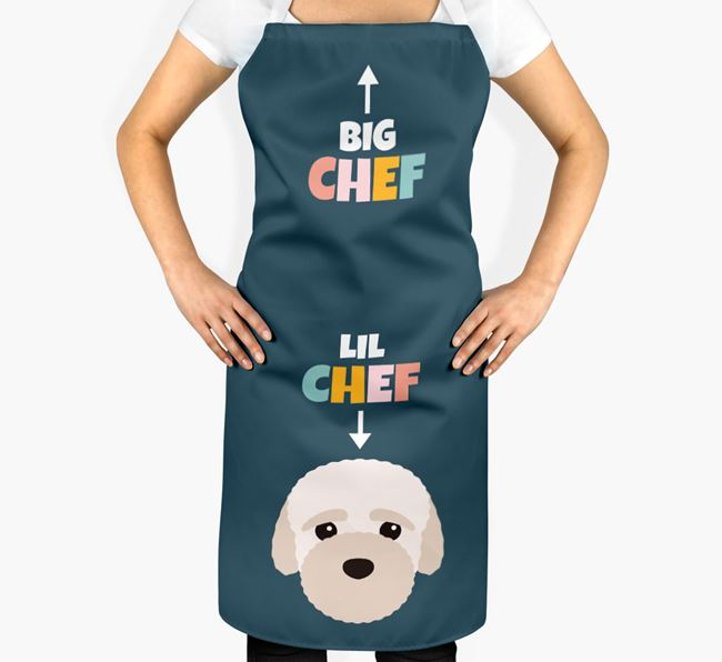 'Big Chef, Lil' Chef' Adult Apron with Bich-poo Icon