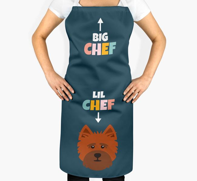 'Big Chef, Lil' Chef' Adult Apron with Cairn Terrier Icon