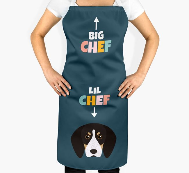 'Big Chef, Lil' Chef' Adult Apron with English Coonhound Icon