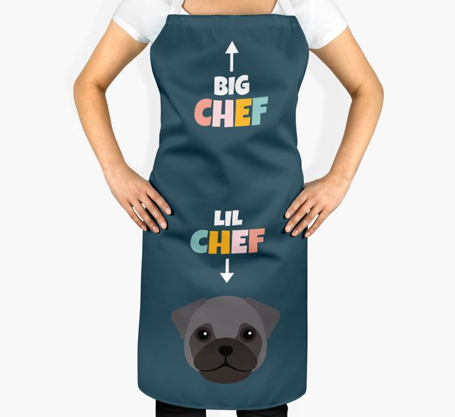 'Big Chef, Lil' Chef' Adult Apron with Frug Icon