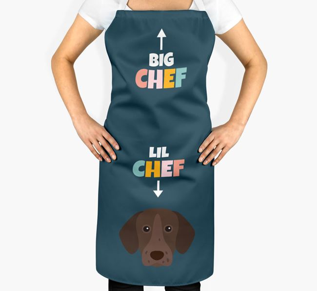 'Big Chef, Lil' Chef' Adult Apron with German Shorthaired Pointer Icon